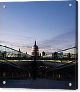 Even The Clouds Aligned With St Paul's Cathedral And The Millennium Bridge - London Acrylic Print