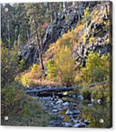 Evening Approaches Spring Creek Acrylic Print