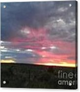 Evening Arizona Sky Acrylic Print