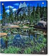 Evening At Cathedral Lakes Acrylic Print