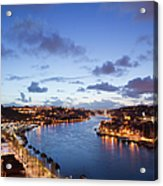 Evening At Douro River In Portugal Acrylic Print