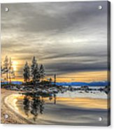 Evening At Sand Harbor Acrylic Print