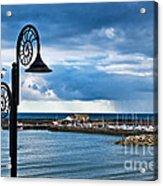 Evening Calm At Lyme Regis Acrylic Print