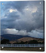 Evening Clouds Over Ashland Farm Country Acrylic Print
