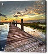 Evening Dock Acrylic Print