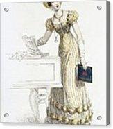 Evening Dress, Fashion Plate Acrylic Print