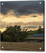 Evening Farm Scene Near Ashland Acrylic Print
