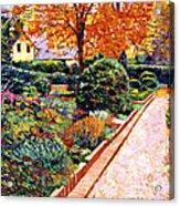 Evening Garden Stroll Acrylic Print by David Lloyd Glover