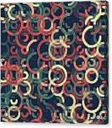 Evening Geometric Circle Segment Pattern Acrylic Print