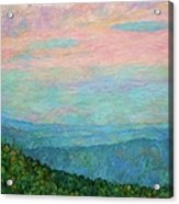 Evening Glow At Rock Castle Gorge  Acrylic Print