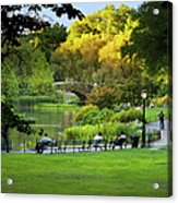 Evening In Central Park Acrylic Print