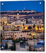 Evening In Jerusalem Acrylic Print