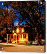 Evening In Small Town U. S. A. Acrylic Print
