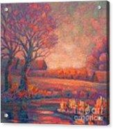 Evening In Tarasovka. Acrylic Print