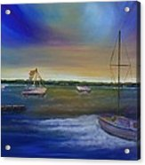 Evening In The Harbor Acrylic Print