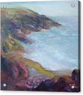 Evening Light On The Oregon Coast - Original Impressionist Oil Painting - Plein Air Acrylic Print