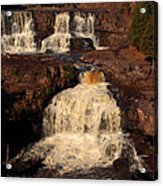 Evening Light Waterfalls Acrylic Print