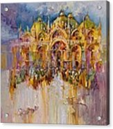 Evening Lights On St. Mark Square Acrylic Print
