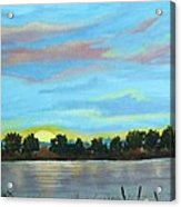Evening On Ema River Acrylic Print