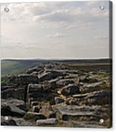 Evening On Stanage Edge Acrylic Print