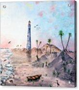 Evening on the beach St Simons Island GA Acrylic Print