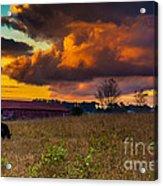 Evening On The Farm Five Acrylic Print