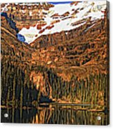 Evening On The Great Divide Painted Acrylic Print