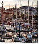 Evening On The Harbor  Acrylic Print
