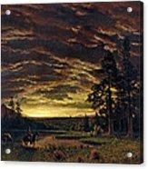 Evening On The Prairie Acrylic Print