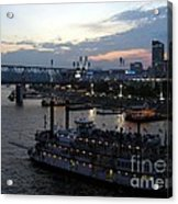 Evening On The River 2 Acrylic Print by Mel Steinhauer