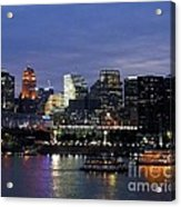 Evening On The River Acrylic Print