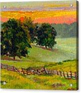 Evening Pastures Acrylic Print