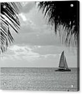 Evening Sail In Paradise Acrylic Print