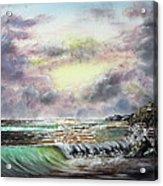 Evening Seashore Acrylic Print