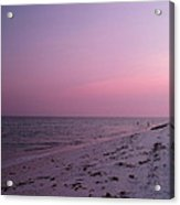 Evening Sky At The Beach Acrylic Print