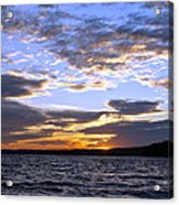 Evening Sky Over Lake Acrylic Print by Olivier Le Queinec