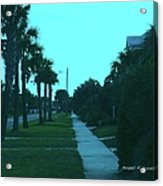 Evening Stroll At Isle Of Palms Acrylic Print