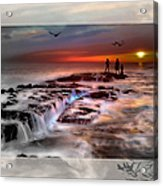 Evening Stroll At The Beach -featured In 'cards For All Occasions'comfortable Art'  'digital Veil Acrylic Print