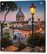 Evening Stroll In Rome Acrylic Print