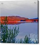 Evening Sun Glow On Calm Twin Lakes Yukon Canada Acrylic Print