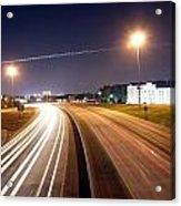 Evening Traffic On Highway Acrylic Print
