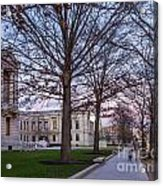 Evening Walk At Themuseum Of Fine Arts Acrylic Print
