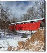 Everett Rd. Covered Bridge Acrylic Print