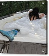 Everglades City Florida Mermaid 071 Acrylic Print