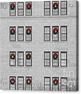 Evergreen Christmas Wreaths Abstract Acrylic Print