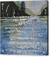 Evergreen Shore Acrylic Print