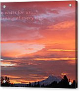 Every Day A Miracle Acrylic Print