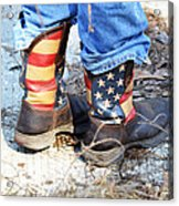 Every Day American Fishing Boots Acrylic Print