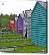 Every Garden Needs A Shed And Lawn Two In Les Jardins De Metis/reford Gardens Near Grand Metis-qc Acrylic Print