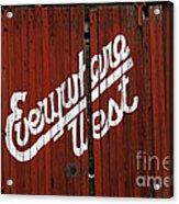 Everywhere West Acrylic Print